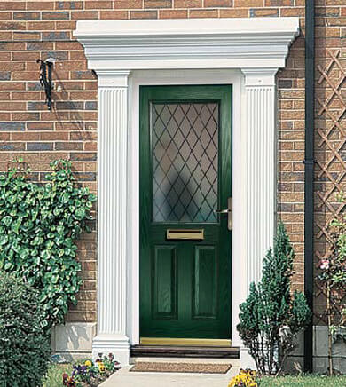 Make A Grand Entrance With Door Canopy Or Surround