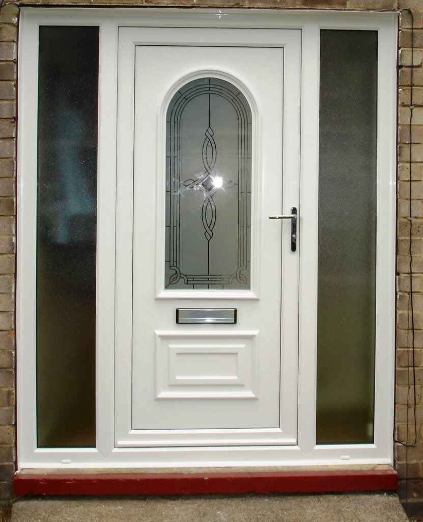 Uvpc doors white upvc fully glazed front door for Upvc windows